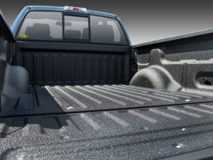 truck bed with Line-X bedliner